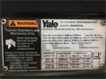 2013 YALE, ESC040AC, SN: B883N02928L, 8566 Hours, IR: 922874, York, PA, Call for pricing